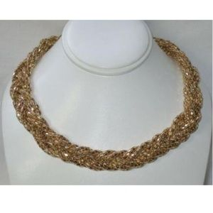 NWOT Express Chunky Braided Necklace, Gold